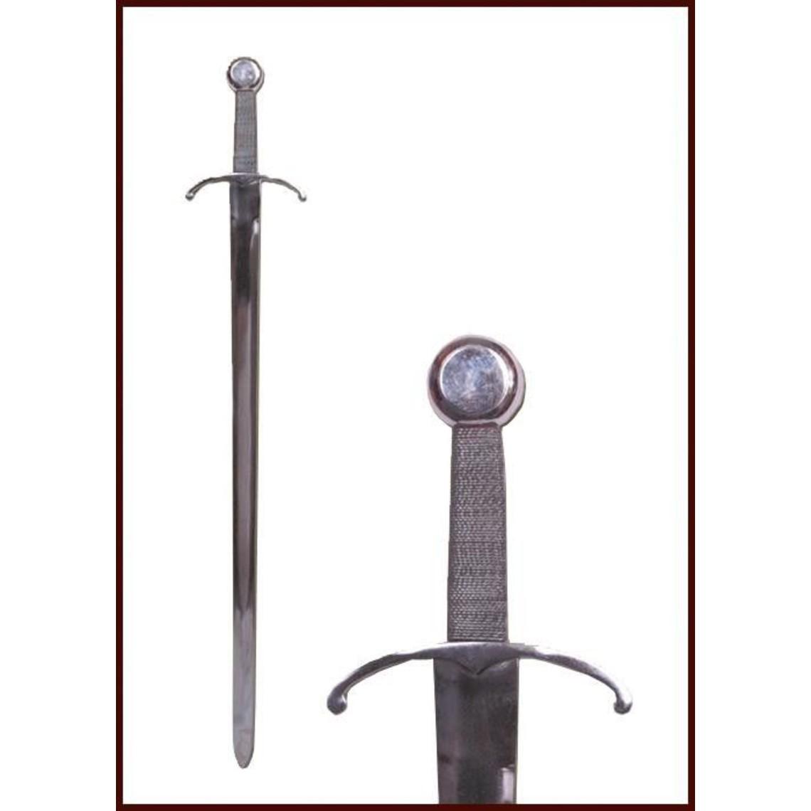 Deepeeka Espada medieval con guarda doblada