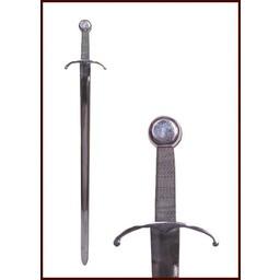 Średniowieczny miecz z giętego przekroju straży
