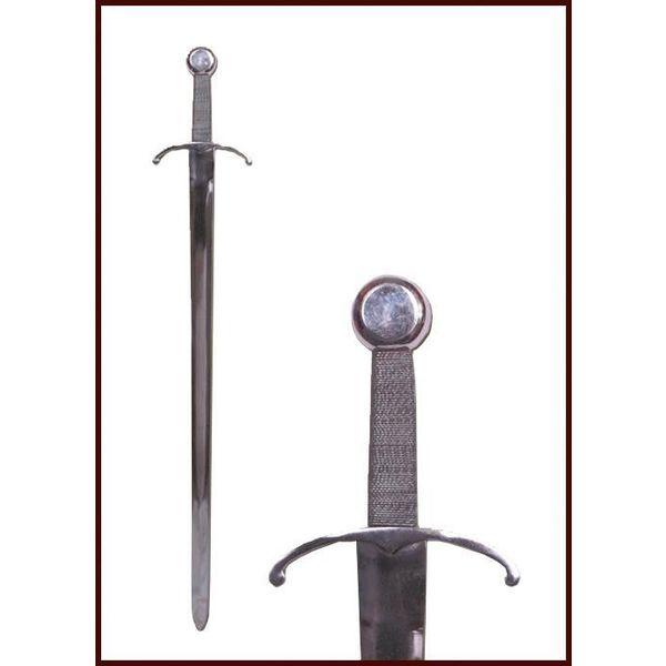 Deepeeka Medieval sværd med bøjet cross-vagt