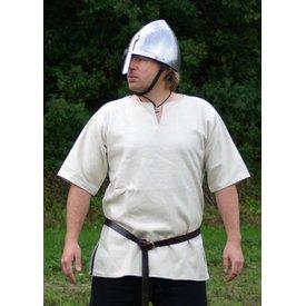 Ulfberth Tunique Viking avec manches courtes, blanc