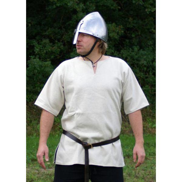 Ulfberth Viking Tunika mit kurzen Ärmeln, weiß