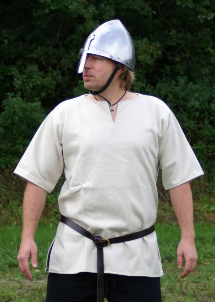 Viking Tunika mit kurzen Ärmeln, weiß