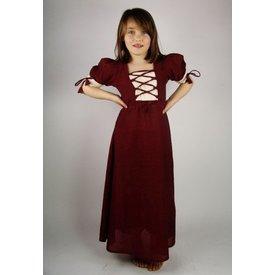 Pigens kjole Nina, rød