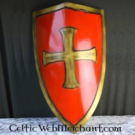 Epic Armoury LARP templariusz tarcza czerwona