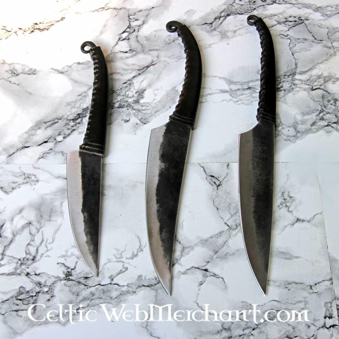 Cuchillo celta La Tène, cuchilla doblada