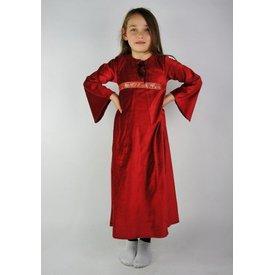 Fluwelen meisjesjurk Ariane, rood