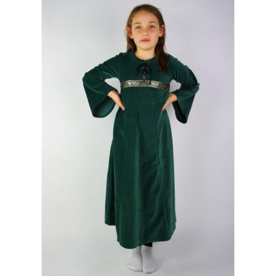 Leonardo Carbone Vestido de chica de terciopelo Ariane, verde