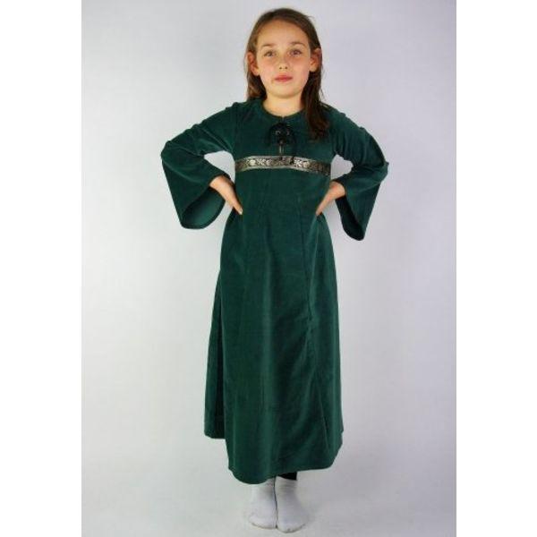 new arrival 879bc 783c5 Vestito della ragazza di velluto Ariane, verde