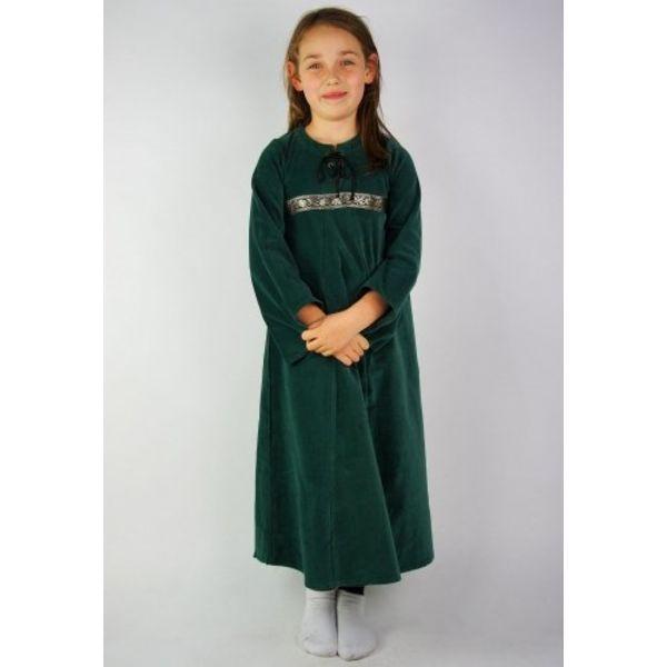 Leonardo Carbone Velvet pigens kjole Ariane, grøn