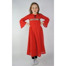 Pigens kjole Ariane, rød