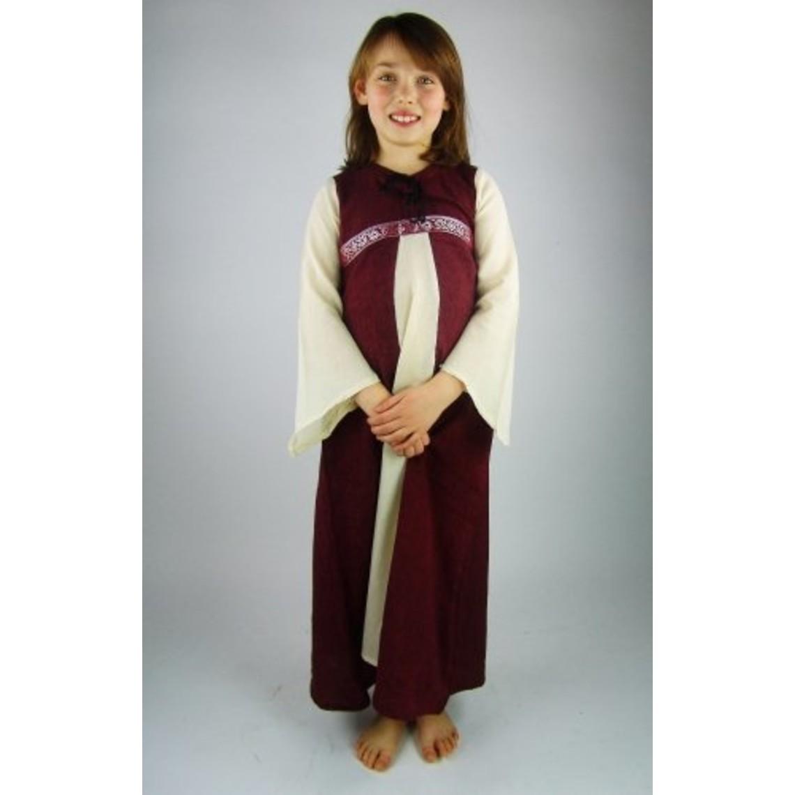 Leonardo Carbone Vestido chica Ariane, blanco-rojo