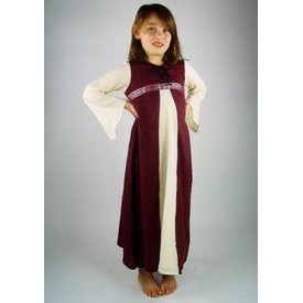 Robe fille Ariane, rouge blanche