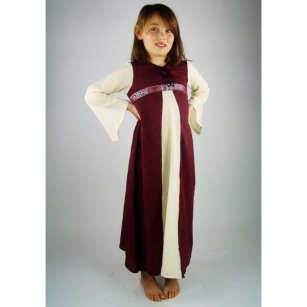 Leonardo Carbone Pigens kjole Ariane, hvid-rød