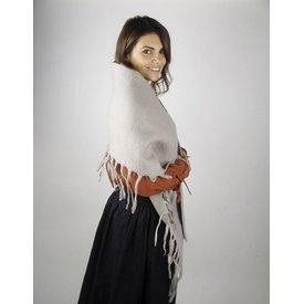 Mantón de lana del siglo XVII gris, ¡oferta especial!