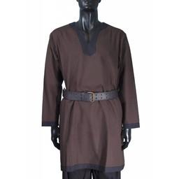 Tunica medievale a maniche lunghe marrone