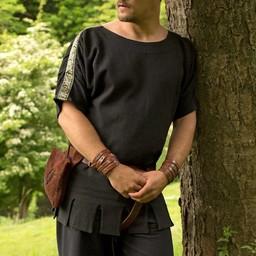 Roman tunic with boat neck black