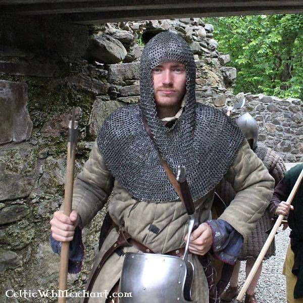 Deepeeka Chainmail coif, butted round rings