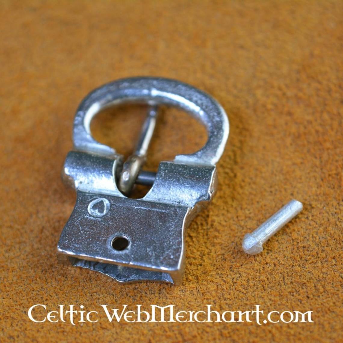 15th century pewter belt buckle