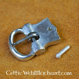 Hebilla de cinturón de peltre del siglo XV