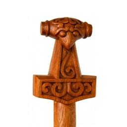Holz Gehstock mit Thorshammer