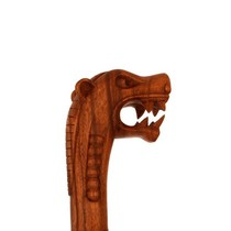 Wooden cane with Viking dragon