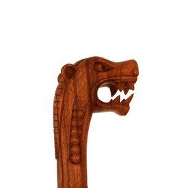 Holzstock mit Wikinger Drachen