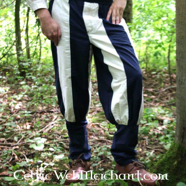 16th Century Tudor spodnie niebieskie naturalne
