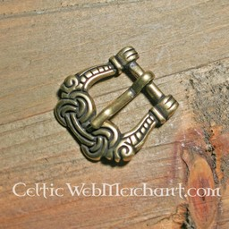 Viking buckle gripping hands