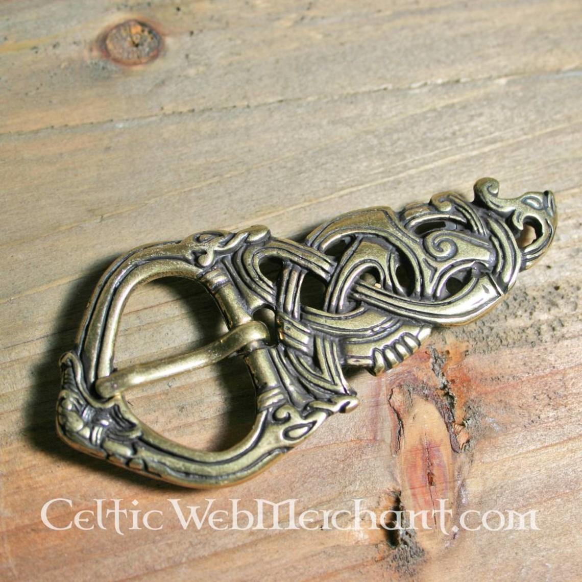 Viking klamra Midgard węża z brązu