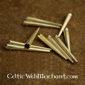 Brass short lace ends (set of 10)