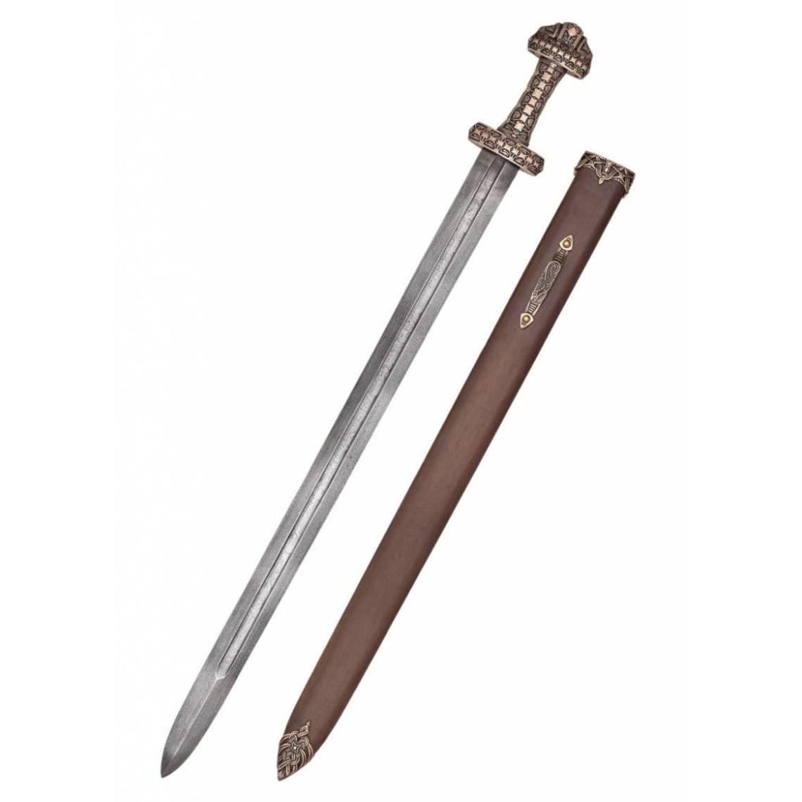 Deepeeka Espada vikinga, Isla de Eigg (acero de Damasco)