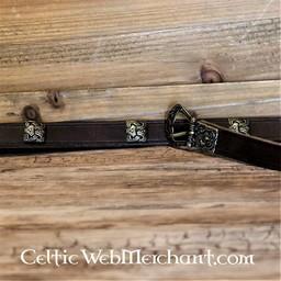Birka belt deluxe, brown, brass