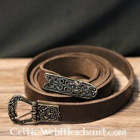 Birka belt, brown, brass