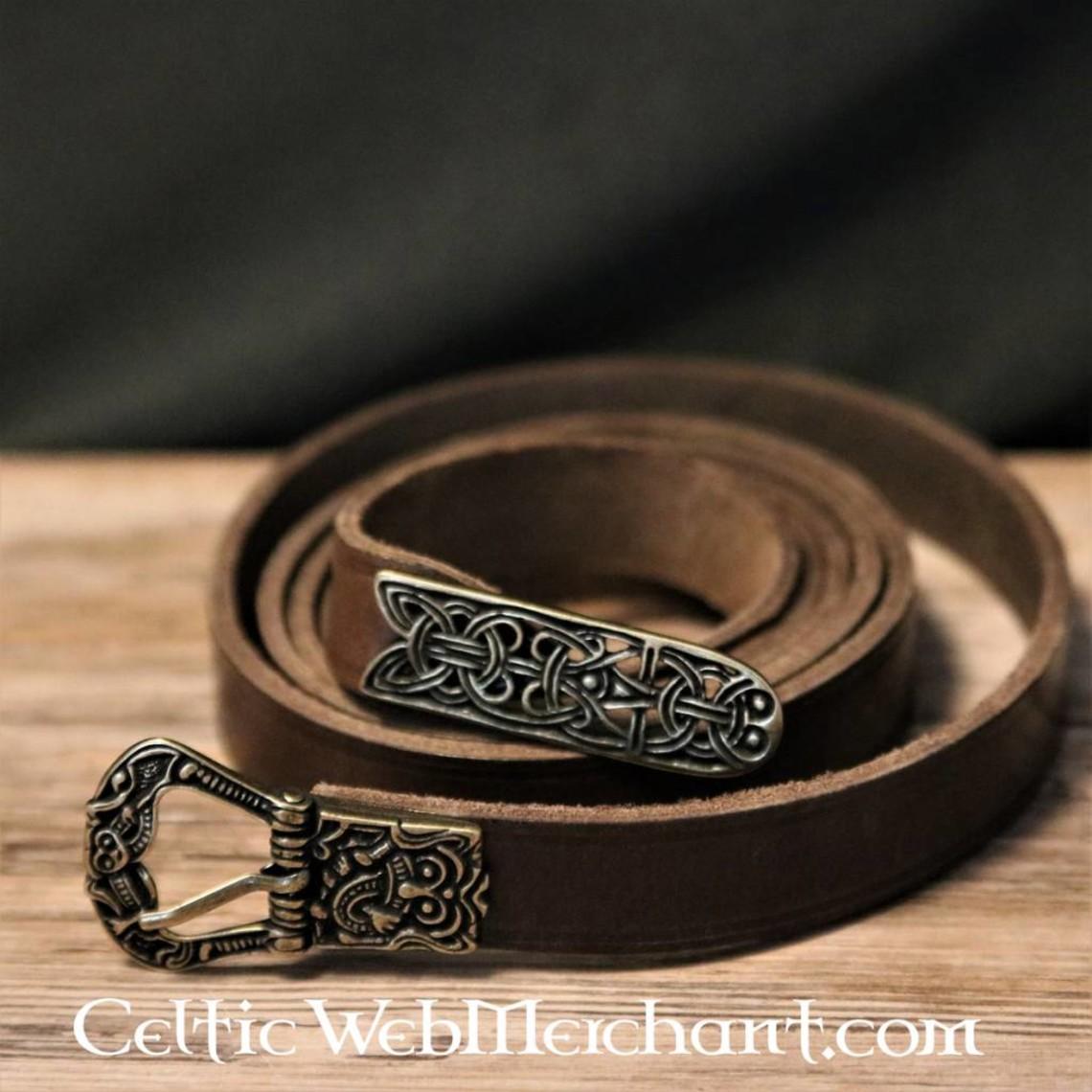 Cinturón Birka, marrón, latón