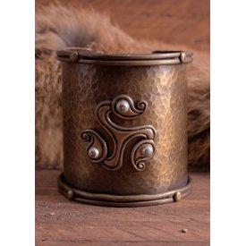 Celtic bracelet with triskelion
