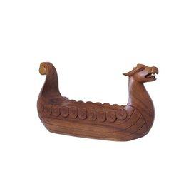 Drakkar wood carving