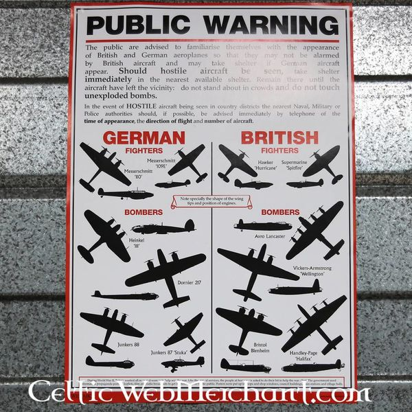 WWII airplane recognition poster