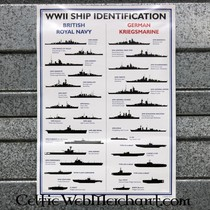 WWII ship recognition poster