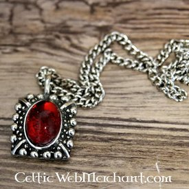 Tudorketting Elizabeth, rode edelsteen, zilver