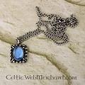 Collar Tudor Elisabeth, gema azul, plata