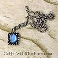 Tudor Halskette Elisabeth, blauer Edelstein, Silber
