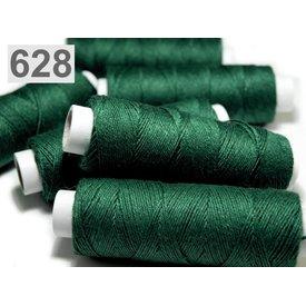 Fil de lin, vert pin, 50 m