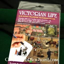 Rub down panorama Victorian street