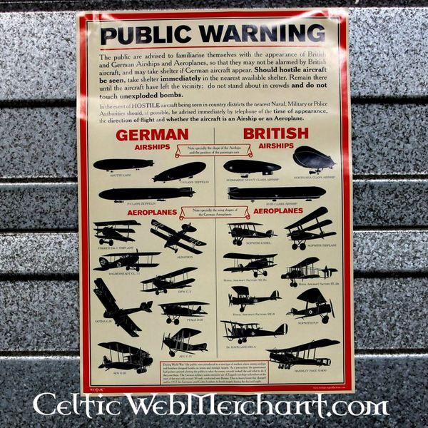 WW I Identyfikacja statku powietrznego Poster