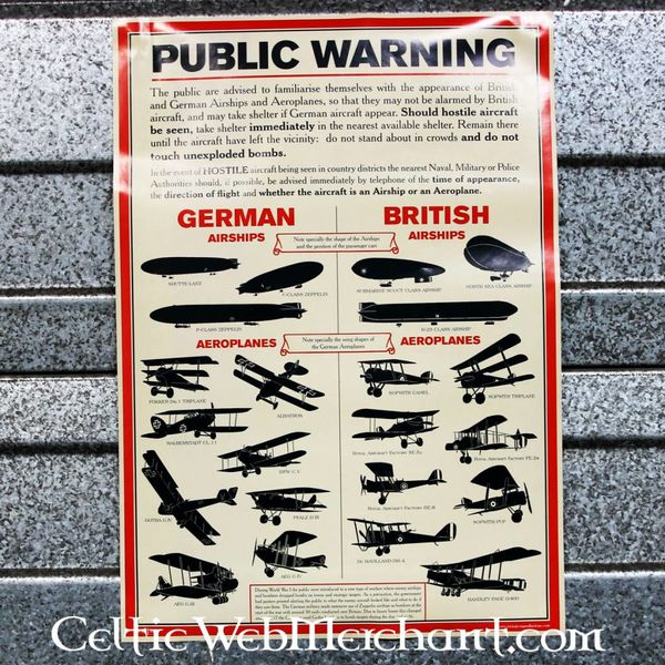 Poster WW eu Identificação da Aeronave