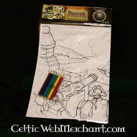Set di colori e attività pirata