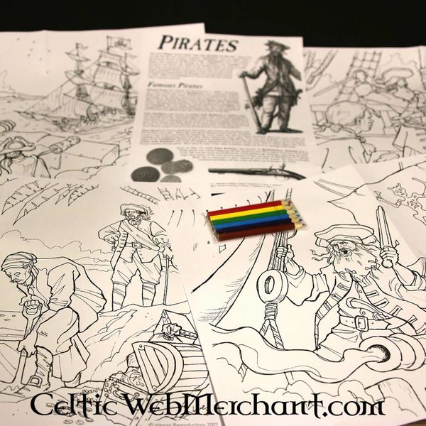 Colour- and activity set Pirate