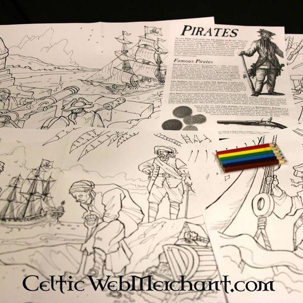 Kleur- en spelset Piraat