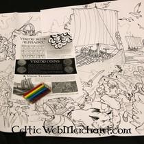 Kleur- en spelset Viking