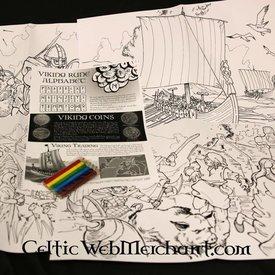 Conjunto de colores y actividades Viking
